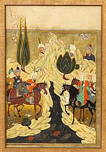 Two Early Islamic Illuminated Manuscript Pages