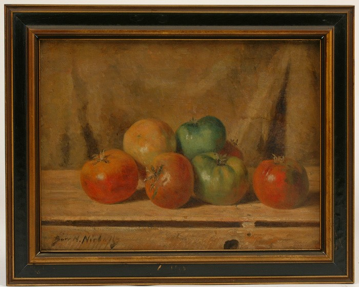 Sgn. Burr H. Nicholls, (Am. 1848-1915), o/c,  orig. frame & cond., exc., 12
