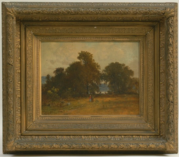 Sgn. G.W. King, (George W. King, Am. 1836-1922), oil on panel, orig. cond. & frame, vg, 9