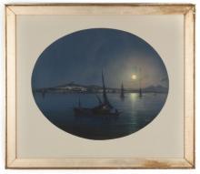 Emmanuel Meuris (Italian 1894 - 1969) Sicilian Harbor Scene