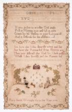 1798 Sampler by Mary Smith