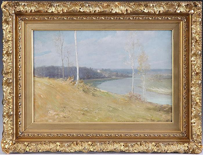 George Brandt Bridgman (American, 1865-1943) River landscape