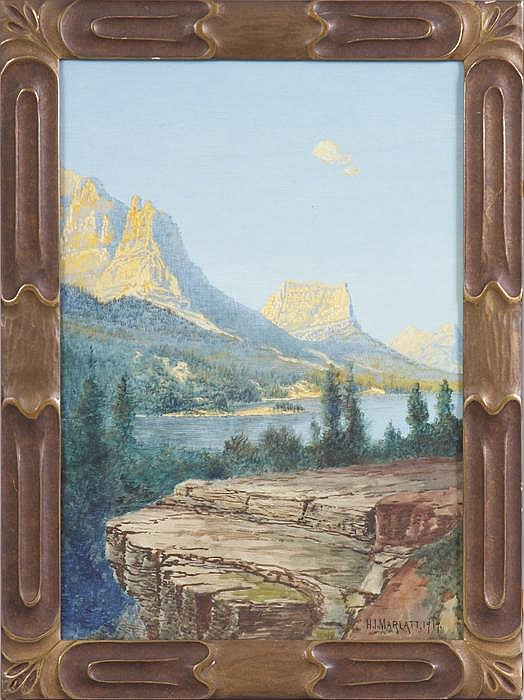 Hamilton Irving Marlatt (American, 1867-1929) Mountain landscape