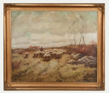 George Leonard Herdle (American, 1868 - 1922) Pastoral Scene