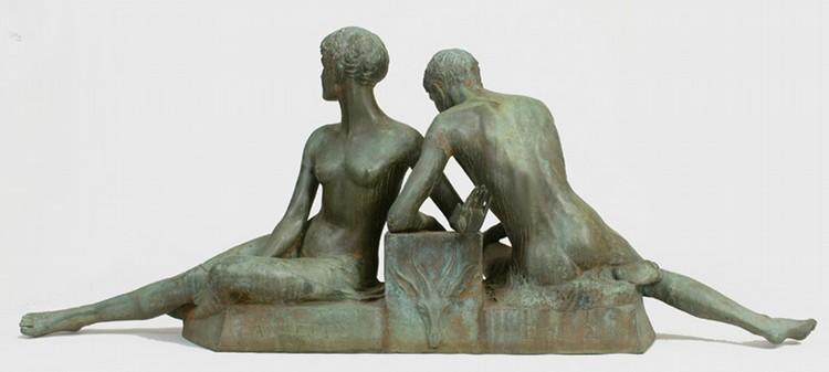 Sgn. A.C. Ladd Bronze Garden Sculpture