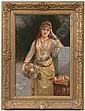 Signed Eisman-Semenowsky-Paris Painting, Emile  Eisman-Semonowsky, Click for value