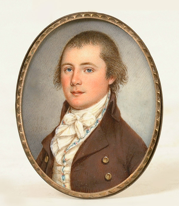 Fine Miniature Portrait On Ivory by James Peale