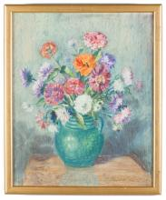 Laura Coombs Hills (American, 1859-1952) Floral Still Life