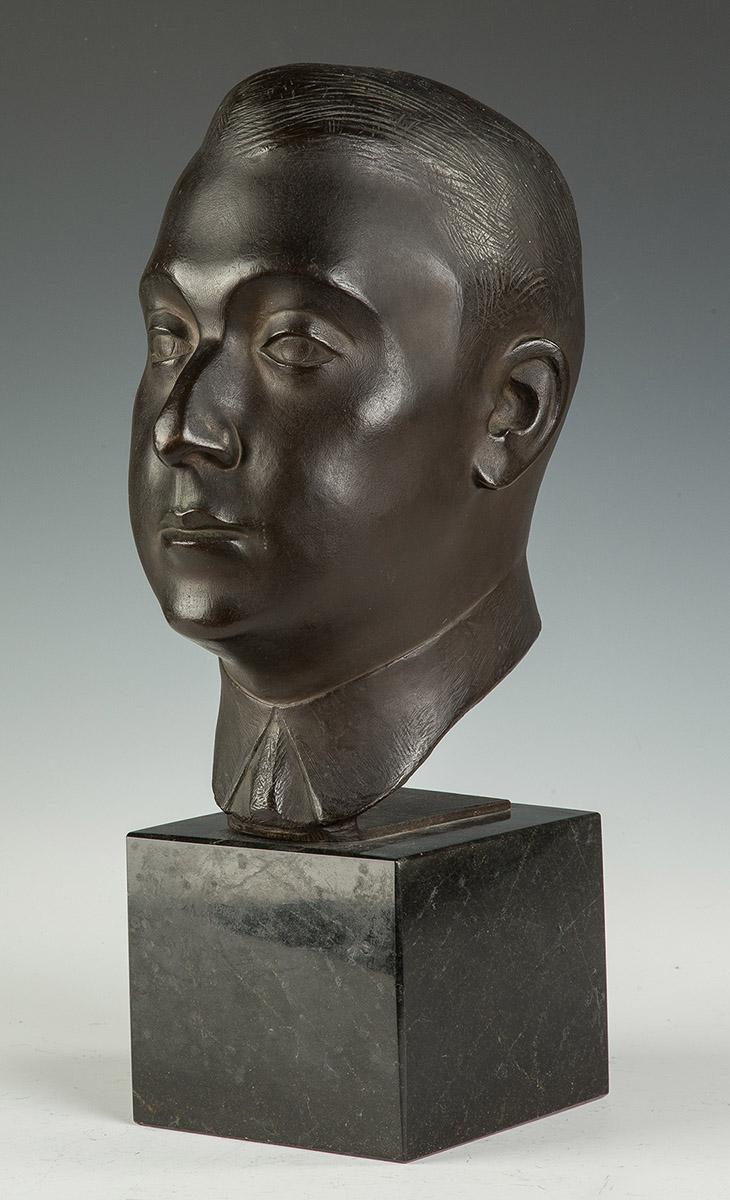 William Zorach American 1887 1966 Bronze Head On Marble B