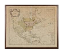 Map of North America by J. Palairet