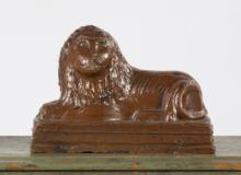 Sewer Tile Reclining Lion