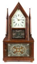 Birge and Fuller Double Steeple Candlestick Shelf  Clock