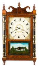 Chauncey Ives, Bristol, CT, Jester Top Shelf Clock