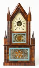 Birge & Fuller Double Steeple Shelf Clock
