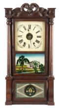 Elisha Manross Triple Decker Shelf Clock
