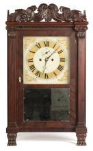 Spencer and Hotchkiss, Wooster, MA, Salem Bridge Carved Shelf Clock