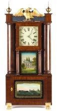 E. and E.G. Bartholomew, Bristol, CT, Hollow Column Shelf Clock