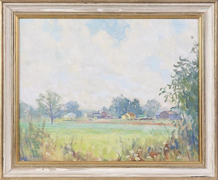 Clifford Ulp (American, 1885 - 1957) farm scene
