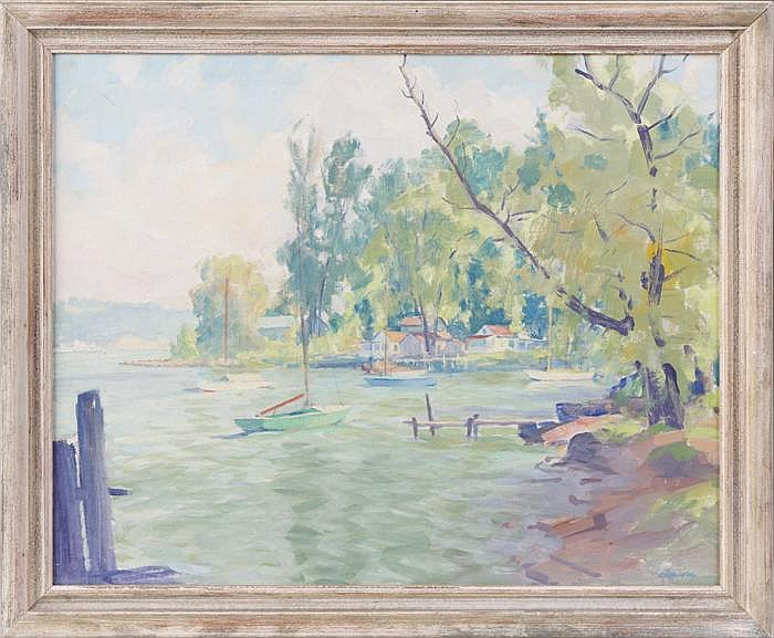 Clifford Ulp (American, 1885 - 1957)  lake scene