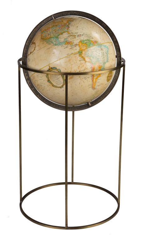 paul mccobb floor globe with stand