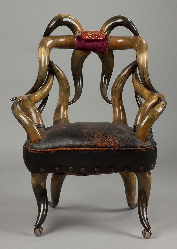 Horn Chair Texas Made By William Mittmann Of San Antonio