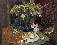 Pierre-Eugene Clairin (French, 1897-1980) Still  Life with Vase