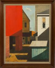 Walter Garver (American, born, 1927) Modern Street  Scene