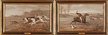 William H. Wheelwright (British, 1857-1897) A pair of British Hunting Scenes