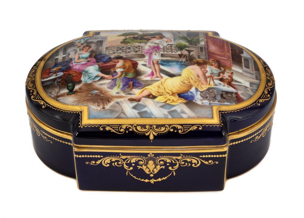 Austrian Porcelain Dresser Box