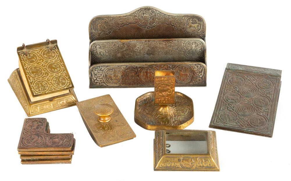 Tiffany Studios, New York Zodiac Desk Accessories
