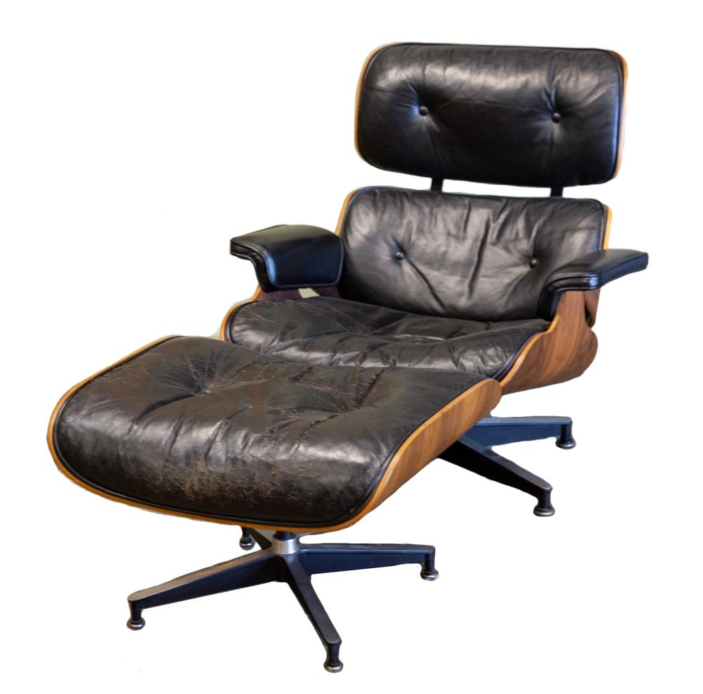 Charles & Ray Eames Lounge Chair with Ottoman