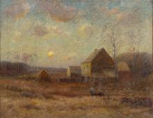 George Herdle (American, 1868-1922) Farm Scene