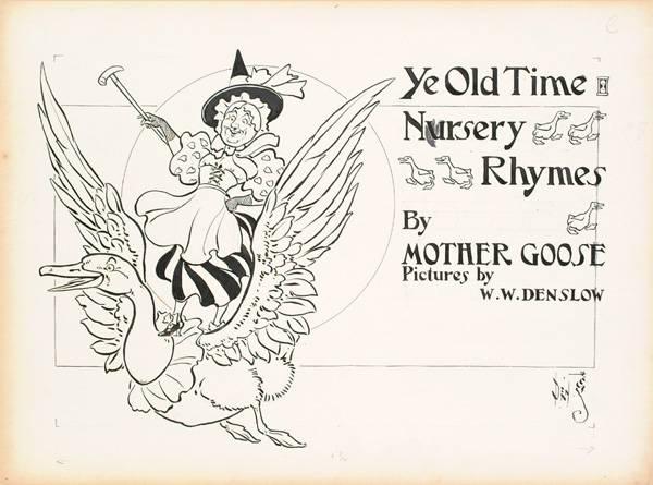 Sgn. Original Pen & Ink Illustrations by W.W. Denslow