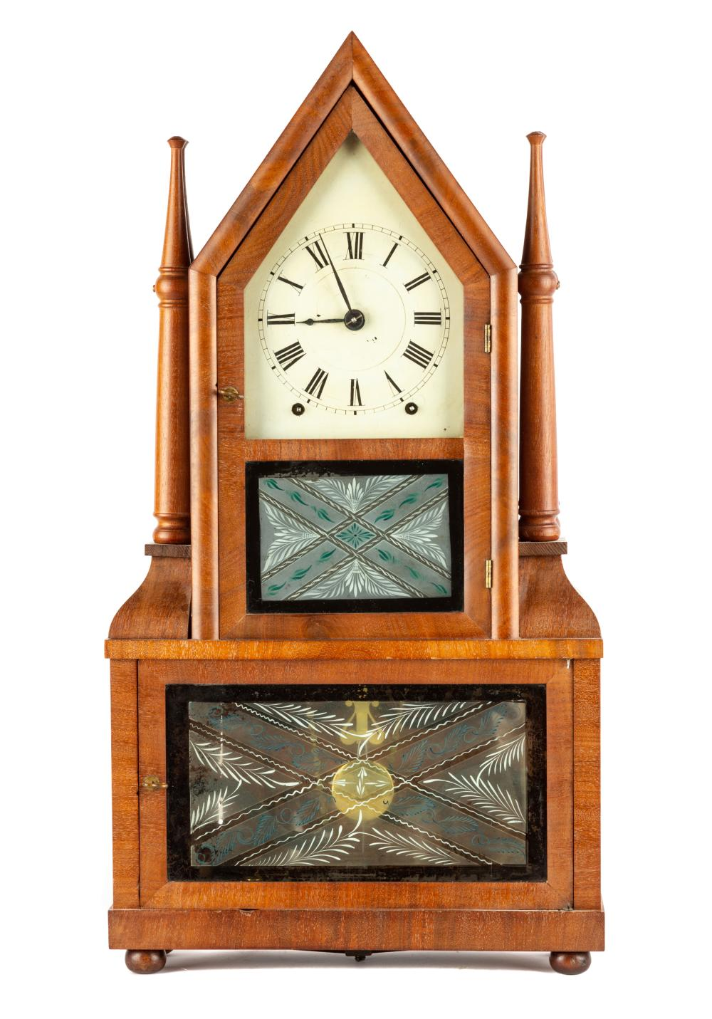 Birge & Fuller Four Candlestick Steeple on Steeple Clock