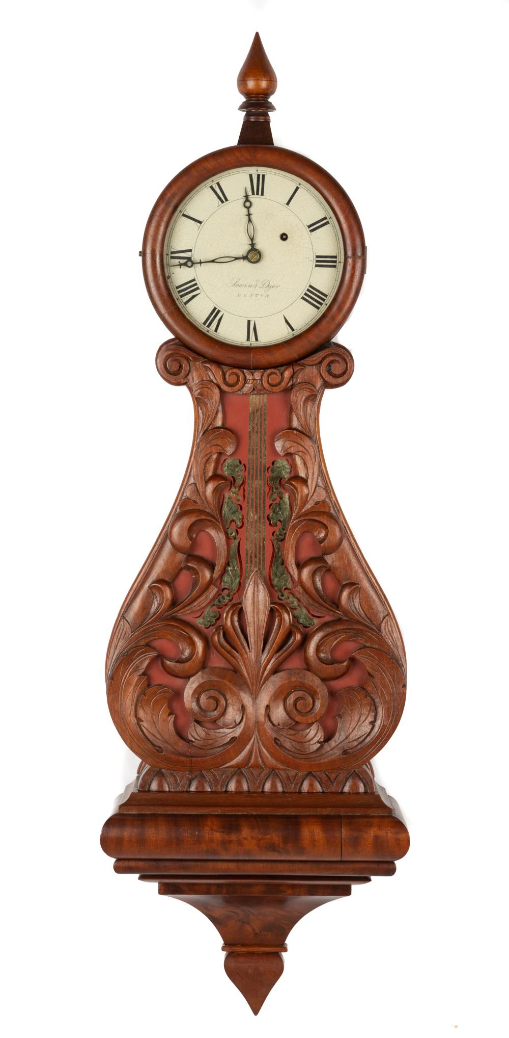 Sawin and Dyer, Boston, Lyre Clock