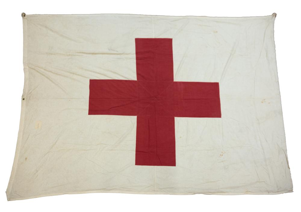 Spanish Style Ship's Flag and American Red Cross Flag