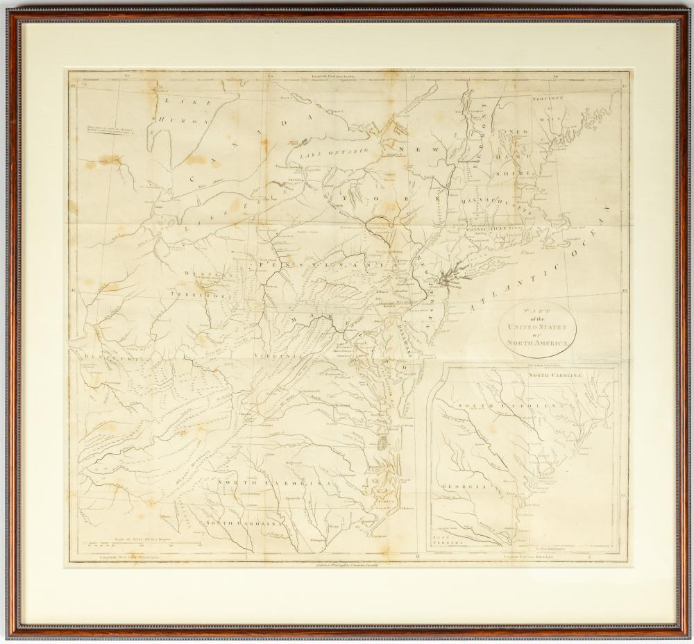 Fort Niagara Prints & 1798 Part of the United States of North America Map
