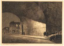"Martin Lewis (American, 1881-1962) ""Arch, Midnight, 1930"""
