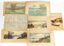 Group of George H. Brodhead (American, b. 1860) Paintings