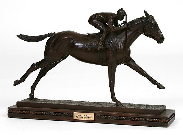 Man O War Bronze Sculpture