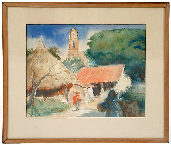 Sgn. Ralph Avery (1906-1976) Watercolor