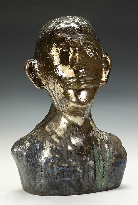 Erwin Eisch (German, born 1927) Sculpted glass bust