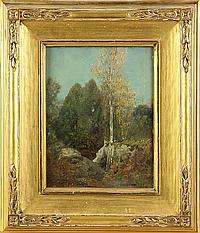 "Louis Loeb (American, 1866 -1909) ""Fountain Bleau"""