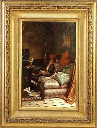 """Fabio Cipolla (Italian, Born 1854) """"The Seductress"""""""