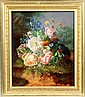 Amalie Kaercher Floral still life with butterflies & insects, Amalie Kärcher, Click for value