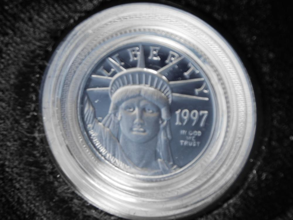 1997-W 1/10 OZ. PROOF INAUGURAL ISSUE $10.00 PLATINUM EAGLE COIN