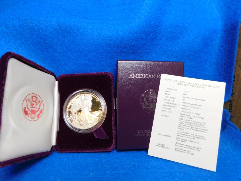1987-S PROOF SILVER EAGLE