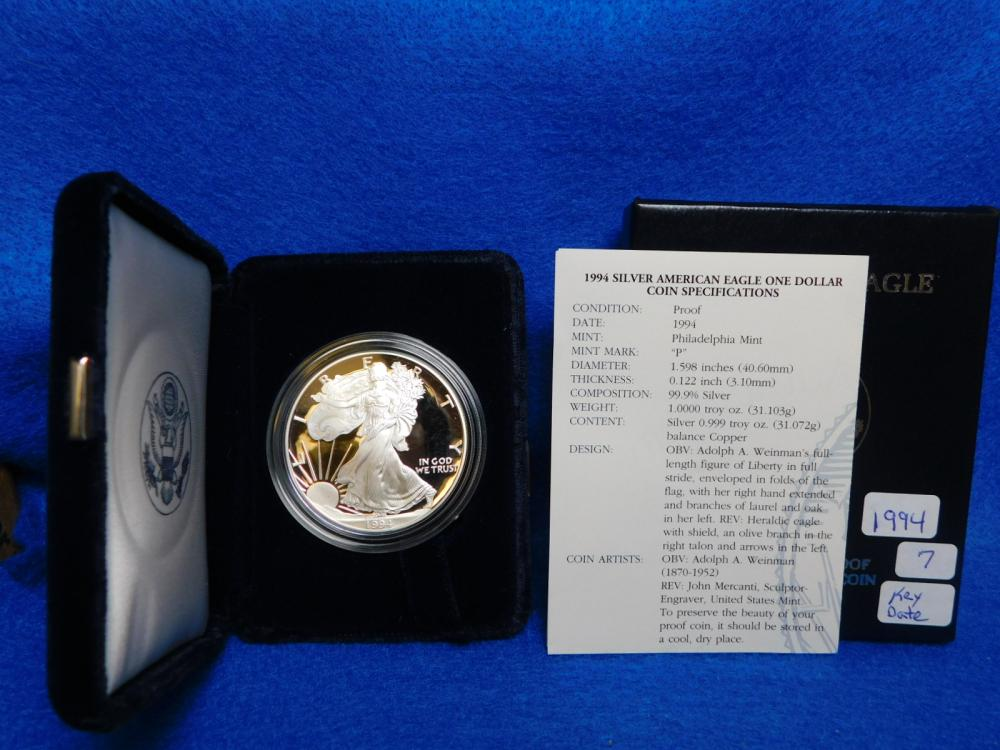 1994-P PROOF SILVER EAGLE (KEY DATE)