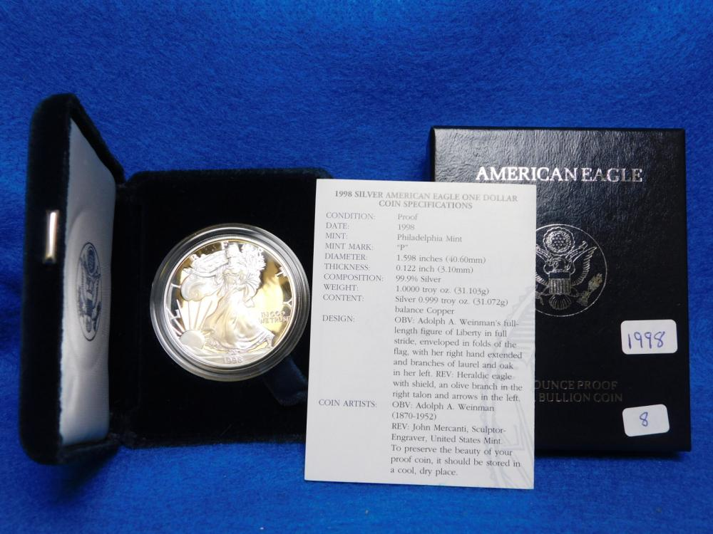 1998-P PROOF SILVER EAGLE