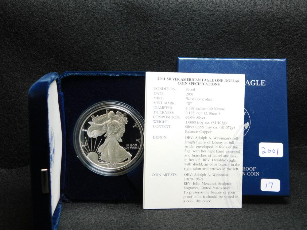 2001-W PROOF SILVER EAGLE